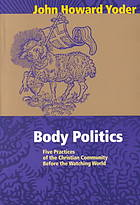 Body politics - John Howard Yoder
